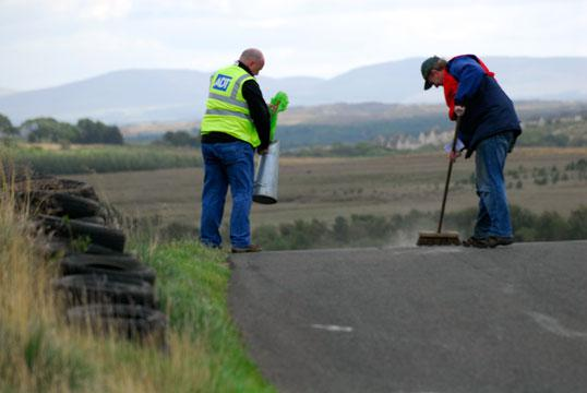 Forrestburn marshals sweeping up