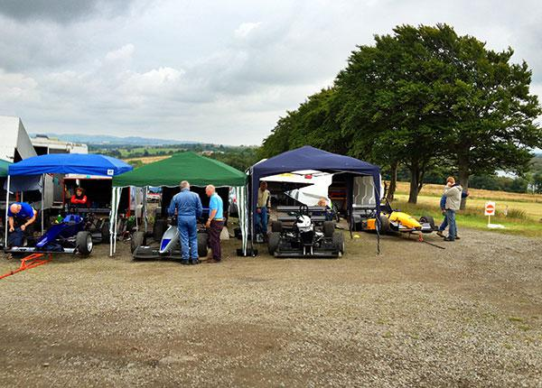 Forrestburn paddock during August hill climb 2012