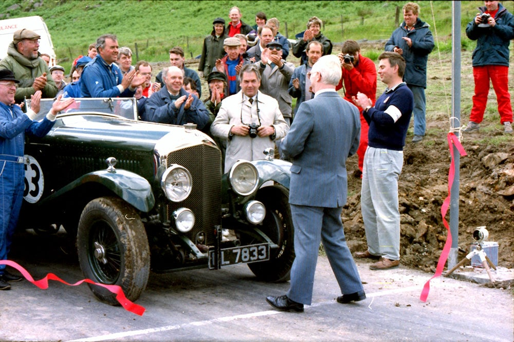 The inaugural event on 4 July 1993. The track was open by Councillor Hugh Lucas of Monklands District Council. There are some familiar faces in this image, particularly David Swinton (right foreground) who was Clerk of the Course from 1993 to 2017