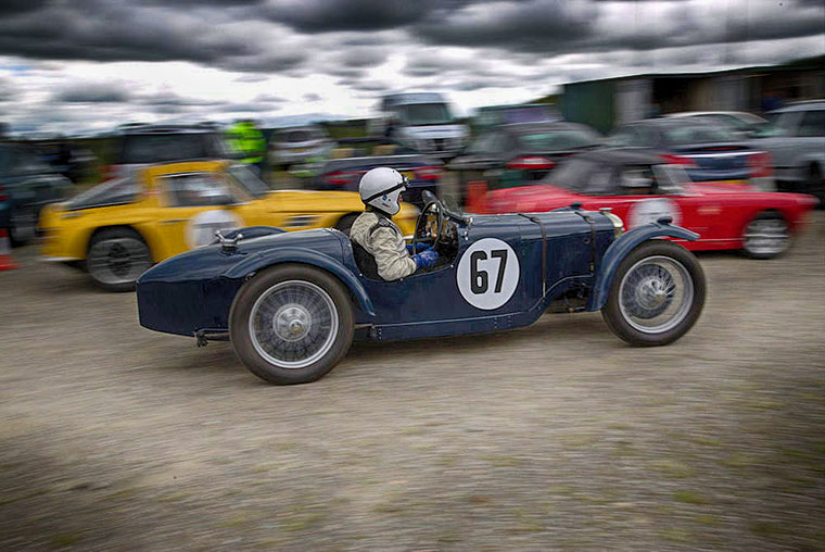 MSCC Forrestburn Speed Hill Climb - 25 June 2017 - Car 67 rushing through the paddock apparently