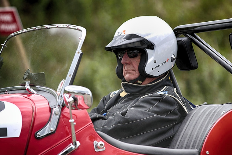 Forrestburn Speed Hill Climb - the determined competitor
