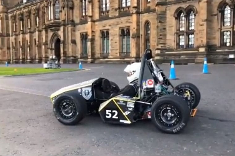 University of Glasgow's 2018 Formula Student Challenge Car